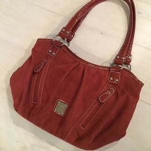 Alfred Dunner rust colored suede purse